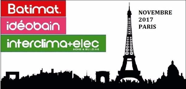 Batimat-Idéobain Inteclima Elec a Parigi dal 6 al 10 novembre 2017