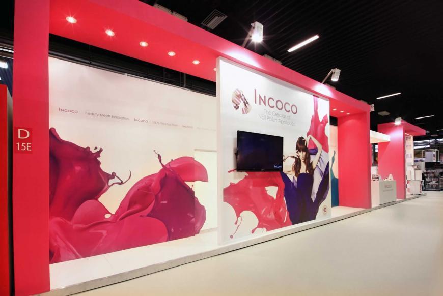 Allestimento stand Bologna Cosmoprof Incoco