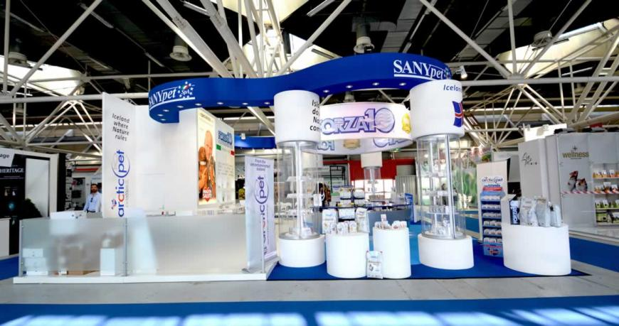 Allestimento stand Bologna Zoomark Sanypet