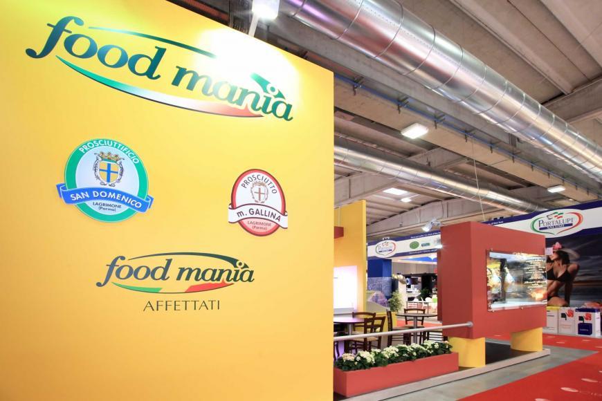 Allestimento stand Parma Cibus Food Mania
