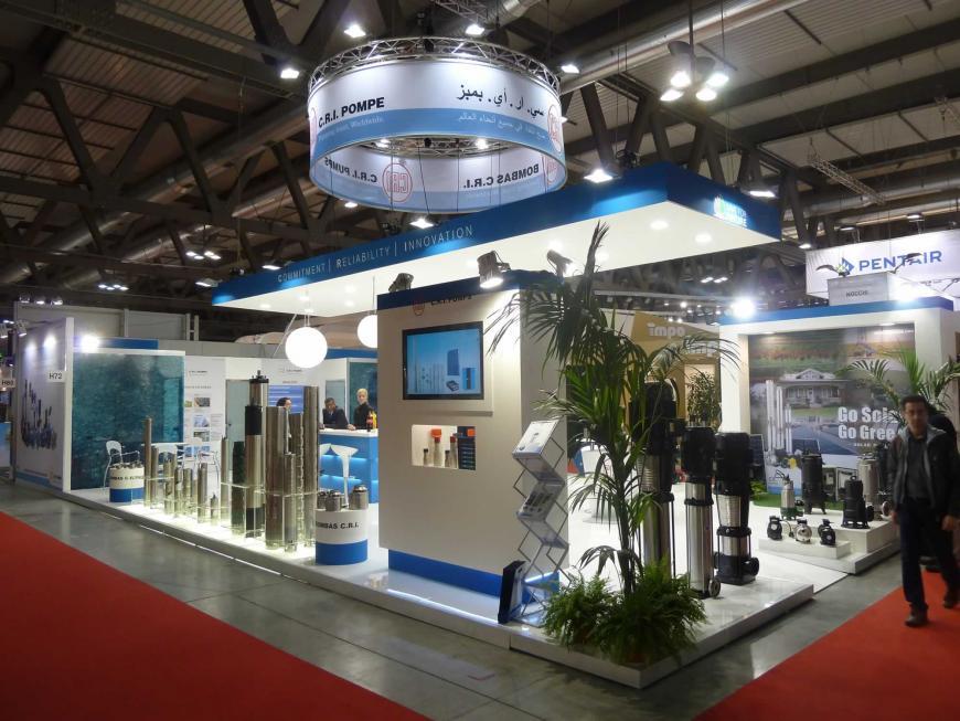 Allestimento stand Milano Mostra Convegno Cri Pompe