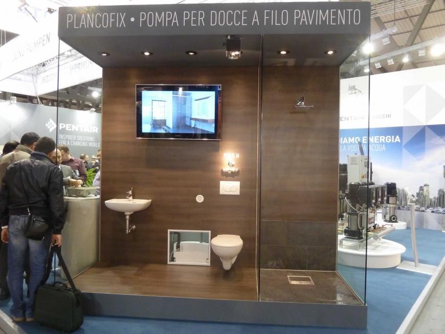 Allestimento stand Milano Mostra Convegno Pentair