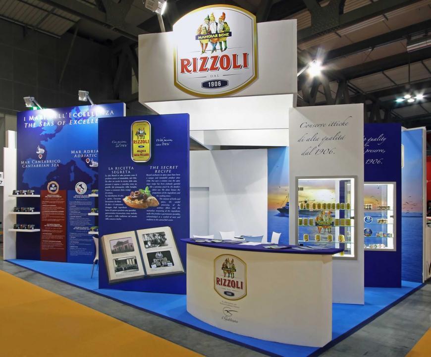 Allestimento stand Milano Tutto Food Rizzoli