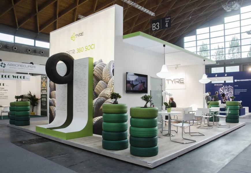 Allestimento Stand Rimini Ecomondo Eco Tyre