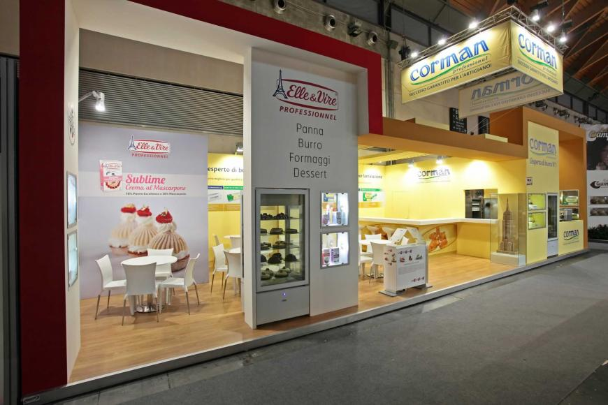 Allestimento stand Rimini Sigep Corman