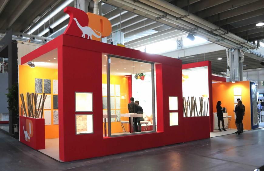 Allestimento stand Verona Marmomacc DueP